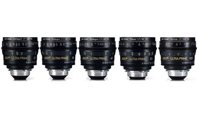 Arri Ultra Prime 5 Lens Kit (20, 25, 32, 50, 85mm)
