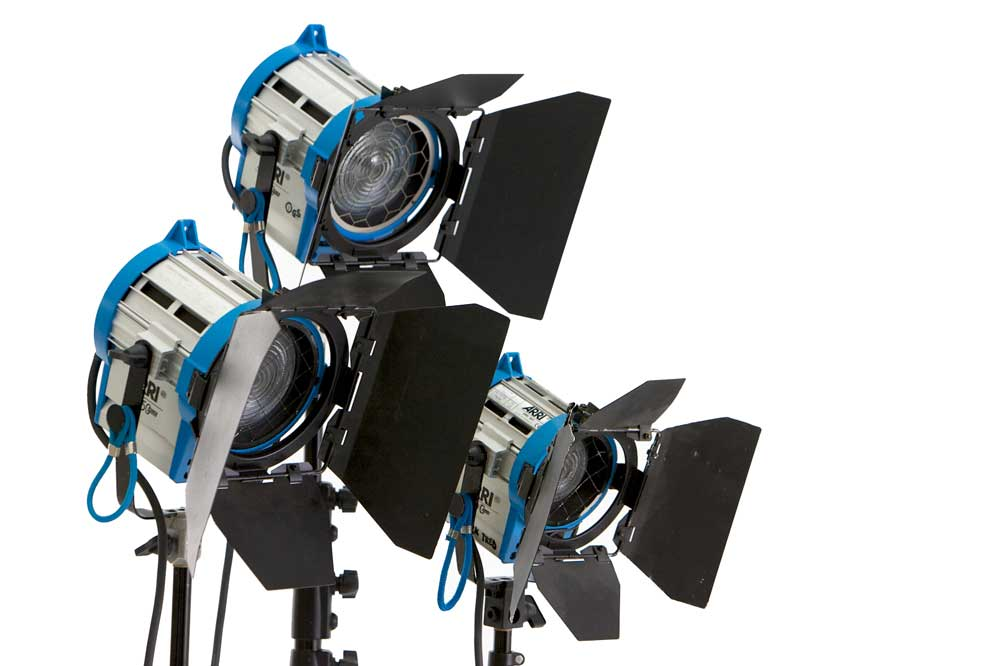 Arri 3 Head Fresnel Portable Lighting Kit